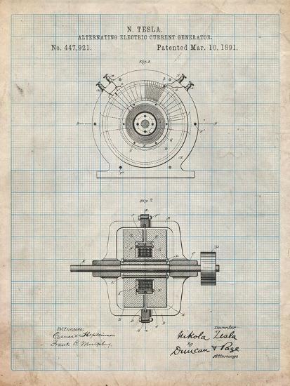Tesla Alternating Current Generator-Cole Borders-Art Print