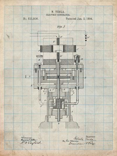 Tesla Electric Generator-Cole Borders-Art Print
