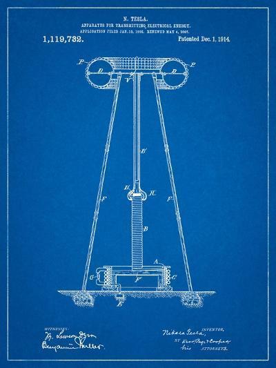 Tesla Energy Transmitter Patent-Cole Borders-Art Print