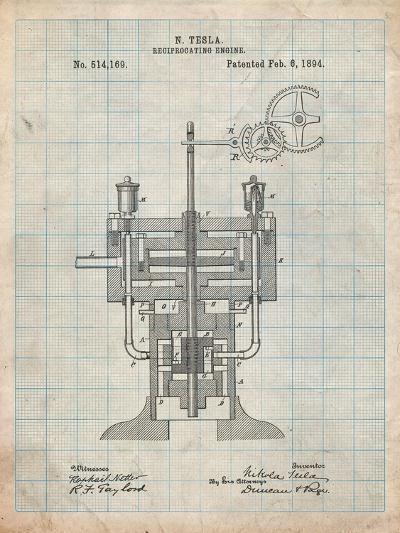 Tesla Reciprocating Engine-Cole Borders-Art Print