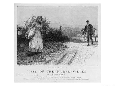 Tess's First Encounter with Alec D'Urberville-E. Borough-Giclee Print