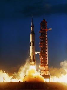 Test Firing of a Saturn V