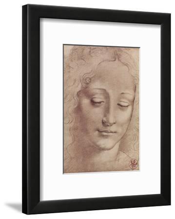 Testa Di Giovinetta-Leonardo Da Vinci-Framed Giclee Print