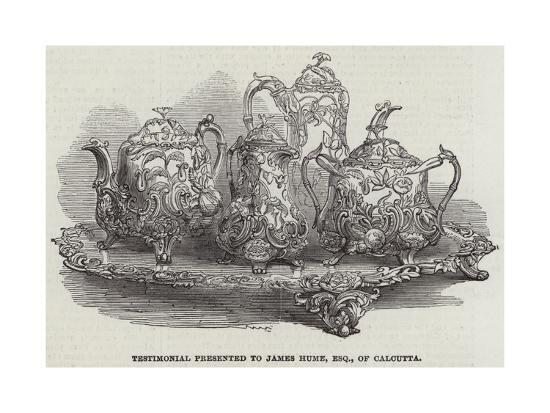 Testimonial Presented to James Hume, Esquire, of Calcutta--Giclee Print