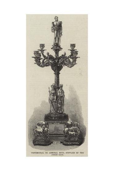Testimonial to Admiral Rous, Steward of the Jockey Club--Giclee Print