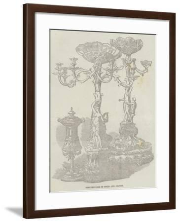 Testimonials in Gold and Silver--Framed Giclee Print
