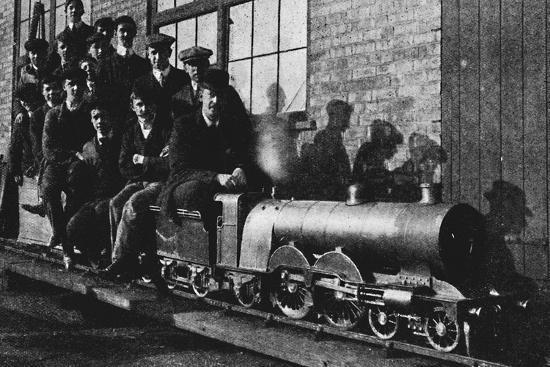 'Testing A Miniature Atlantic Engine at Northampton', 1926-Unknown-Photographic Print