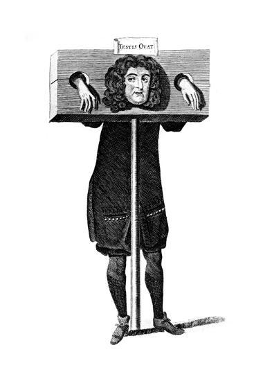 Testis Ovat, Titus Oates in the Pillory, 17th Century--Giclee Print