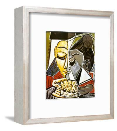 Tete d'une Femme Lisant-Pablo Picasso-Framed Art Print