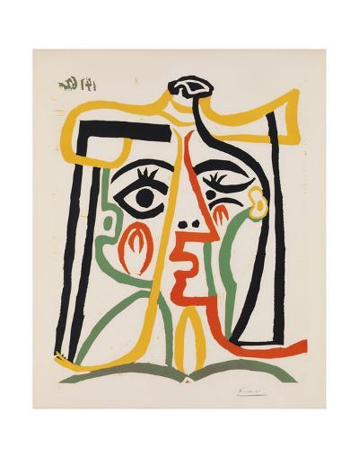 Tete de femme-Pablo Picasso-Art Print