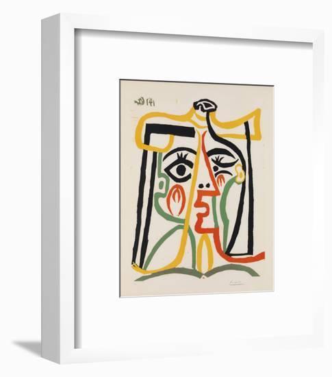 Tete de femme-Pablo Picasso-Framed Art Print
