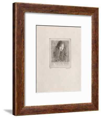 Tête de femme-Ivan Theimer-Framed Premium Edition