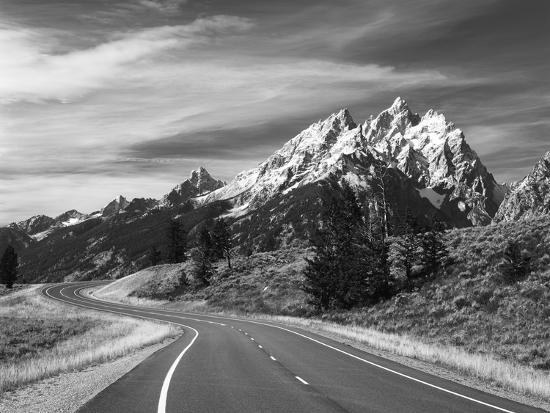 Teton Park Road and Teton Range, Grand Teton National Park, Wyoming, USA-Adam Jones-Photographic Print