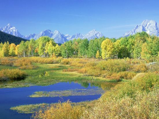 Teton Range, Grand Teton National Park, USA-Stan Osolinski-Photographic Print