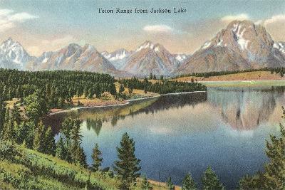 Teton Range, Jackson Lake--Art Print