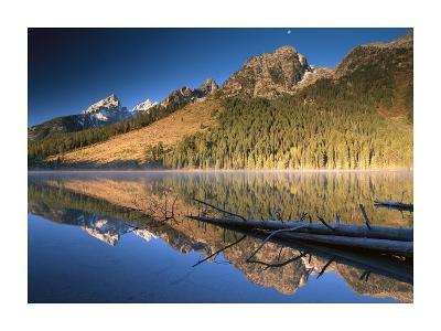 Teton Range reflecting in String Lake, Grand Teton National Park, Wyoming-Tim Fitzharris-Art Print