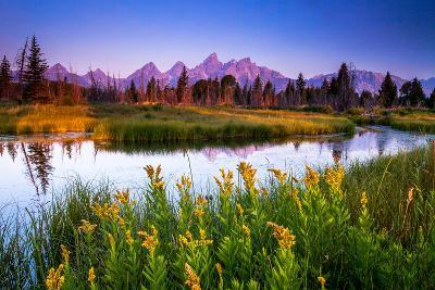 Teton Sunrise-Steve Burns-Photographic Print