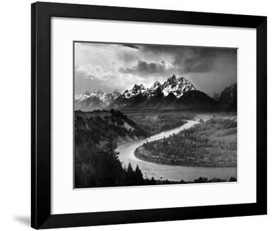 Tetons and The Snake River, Grand Teton National Park, c.1942-Ansel Adams-Framed Art Print