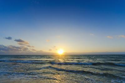 Sunlit by John Seba Sunrise Sunset Beach Ocean 36x24 Poster SEASCAPE ART PRINT