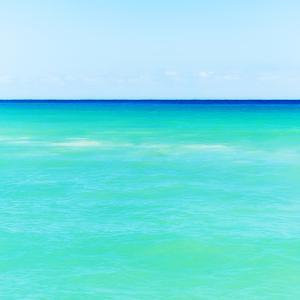 Mexico, Yucatan, Seascape with Blue Sky by Tetra Images