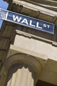 Wall Street Sign by Tetra Images