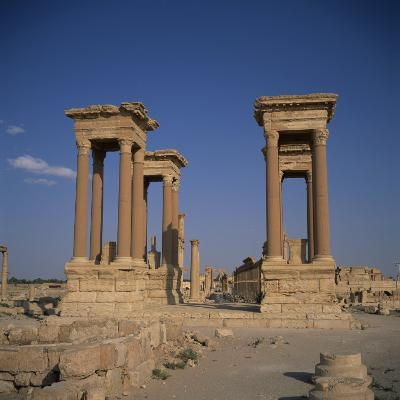 Tetrapylon and the Columned Main Street Dating from the 1st Century AD, Palmyra, Syria-Christopher Rennie-Photographic Print
