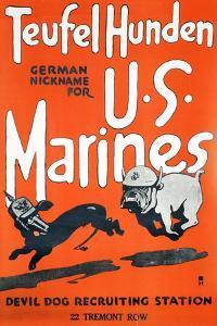 Teufel Hunden U.S. Marines Poster, C.1918