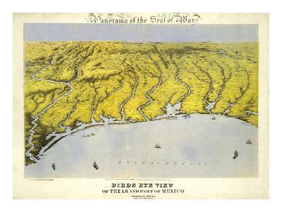Texas and Part of Mexico, c.1861-John Bachmann-Art Print