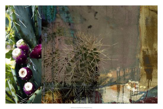Texas Cactus Collage-Sisa Jasper-Giclee Print