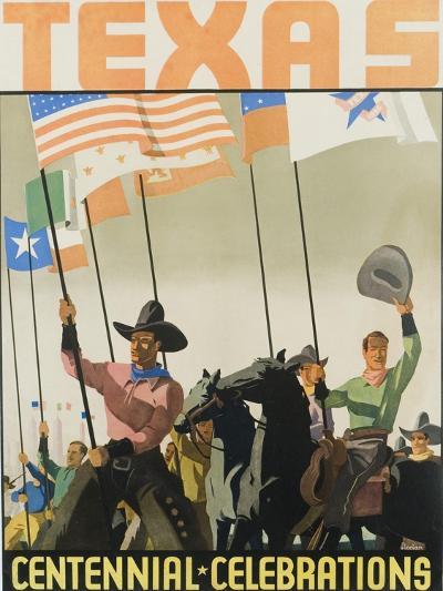 Texas Centennial Celebrations Poster--Giclee Print