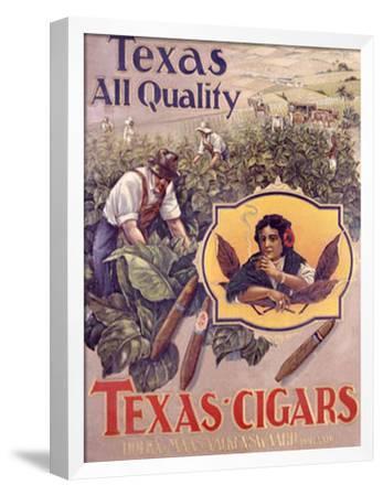 Texas Cigars-Maatschappij-Framed Giclee Print