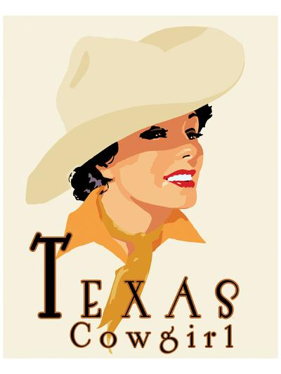 Texas Cowgirl-Richard Weiss-Art Print