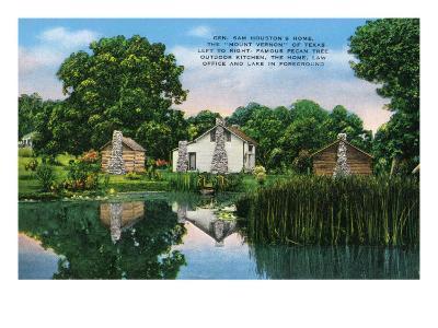 "Texas - General View of General Sam Houston's Home, the ""Mount Vernon"" of Texas, c.1940-Lantern Press-Art Print"