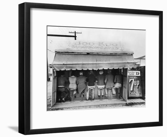 Texas: Luncheonette, 1939-Russell Lee-Framed Photographic Print