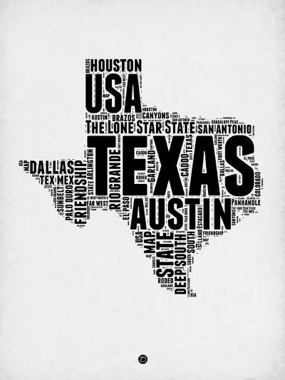 Texas Word Cloud 2-NaxArt-Art Print