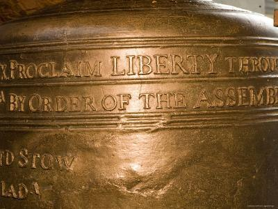 Text on the Liberty Bell-Tim Laman-Photographic Print
