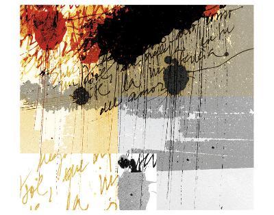 Text Rain-Carolina Pecora-Art Print