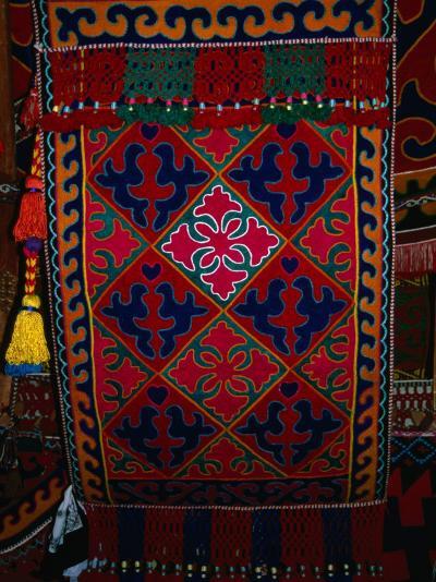 Textile decoration, Kyrgyzstan-Martin Moos-Photographic Print