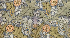 Textile Design, Pencil and Watercolour, England, 1915
