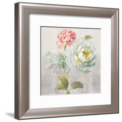Textile Floral Square I No Lace-Danhui Nai-Framed Art Print