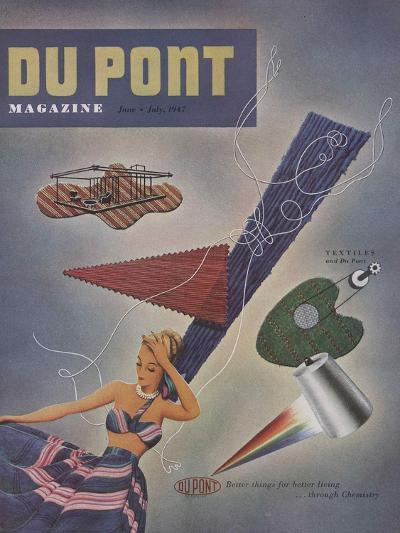Textiles and Du Pont, Front Cover of 'The Du Pont Magazine', June-July 1947--Giclee Print