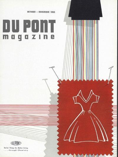 Textiles, Front Cover of 'The Du Pont Magazine', October-November 1955--Giclee Print