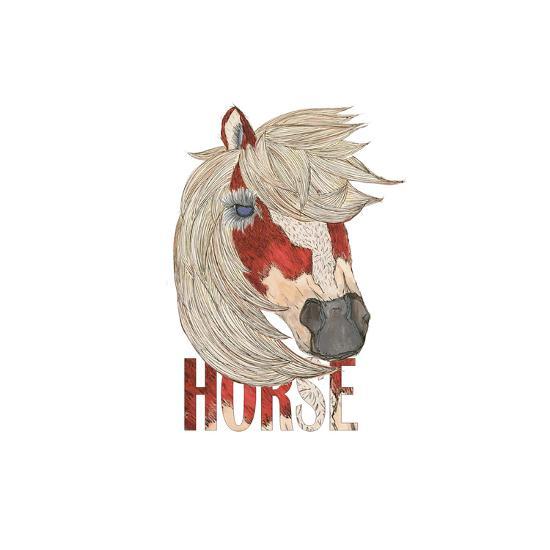 Textimals Horse-JessMessin-Giclee Print