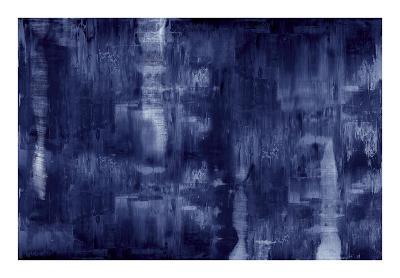 Textural in Indigo-Justin Turner-Giclee Print