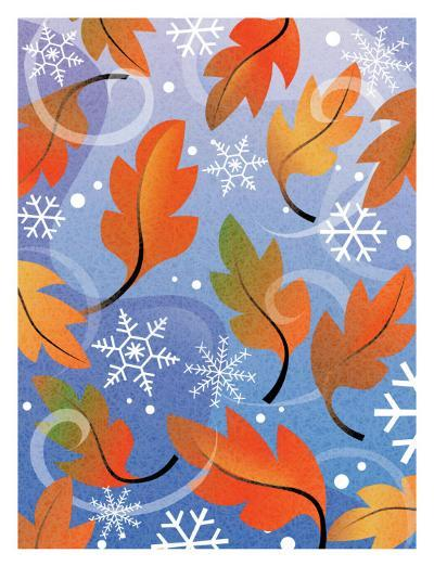 Texture, Autumn Turning to Winter--Art Print