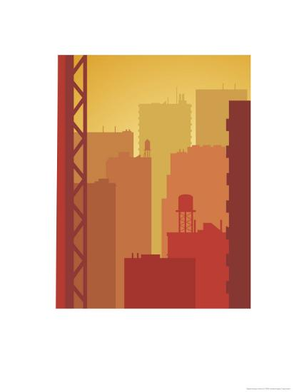 Texture, City Skyline--Art Print