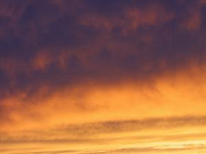 Texture of Clouds in Sky at Sunset