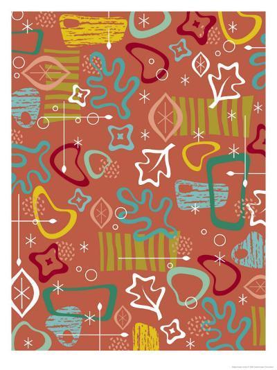 Texture, Retro Shapes--Art Print