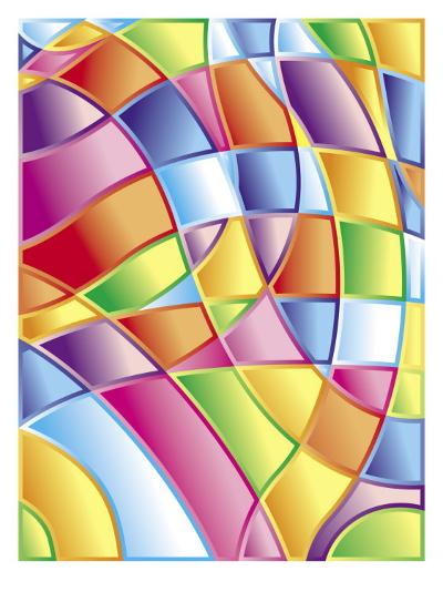 Texture, Stained Glass--Art Print