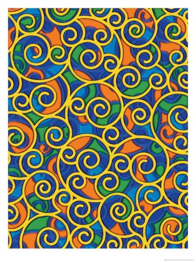 Texture, Swirls--Art Print